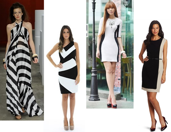 Fotos de Vestidos Preto e Branco
