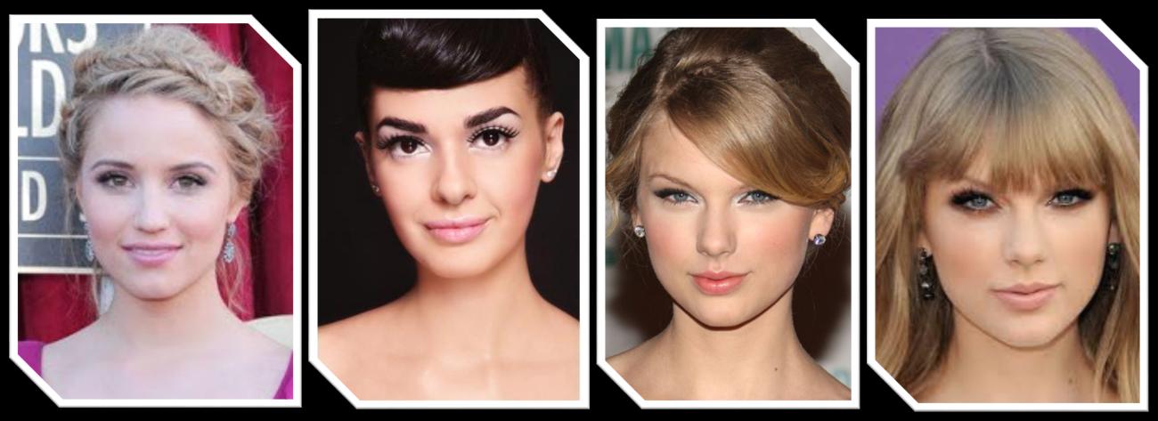 Exemplos de maquiagem romântica