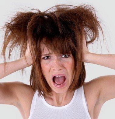 Ilustração de um Bad hair day