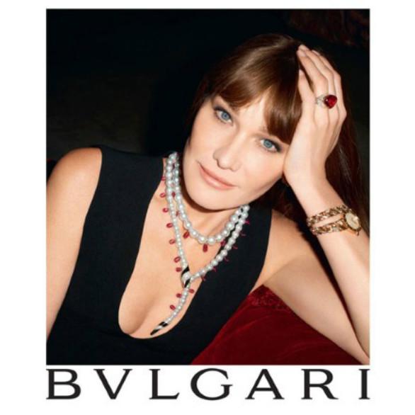 Carla Bruni é o novo rosto da Bulgari