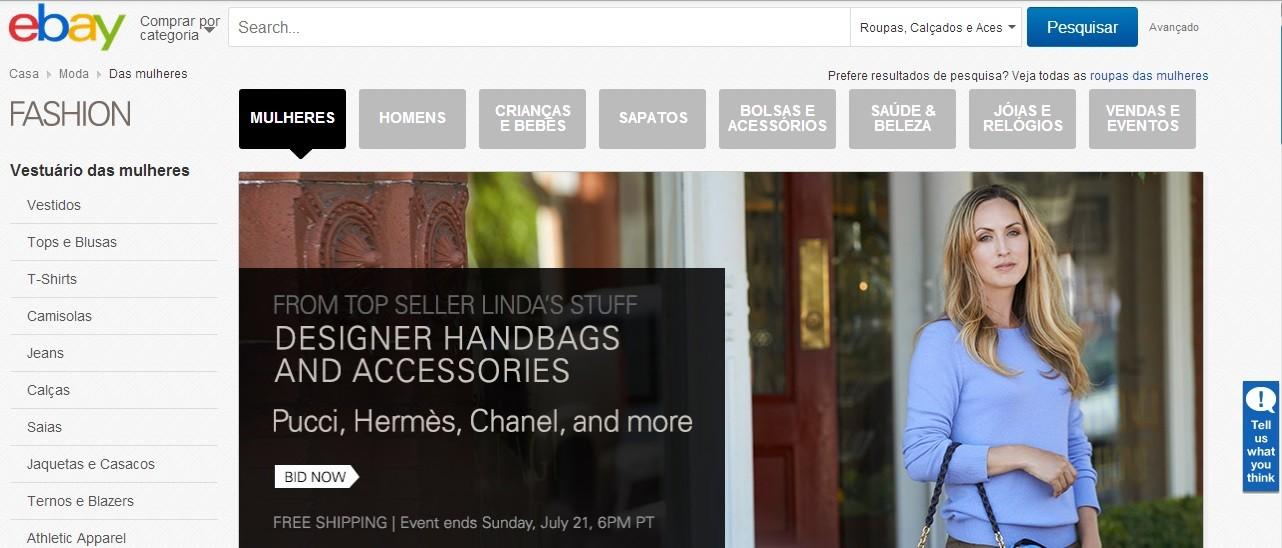 ebay para comprar roupas online