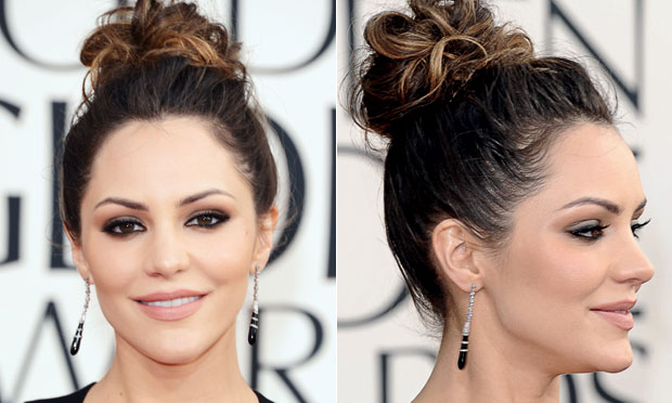Katharine Mcphee de coque alto para evitar Bad hair day