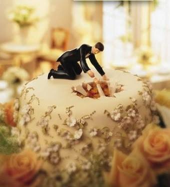 Bolo de casamento com economia