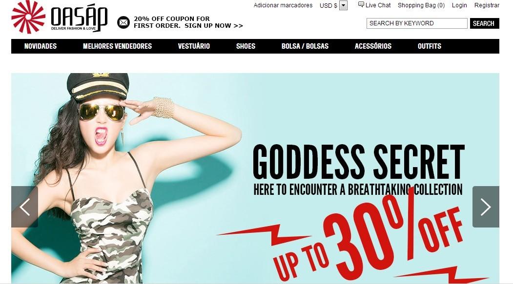 oasap para comprar roupas online