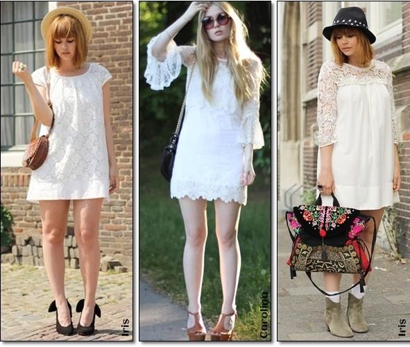 vestidos curtos na moda do branco total