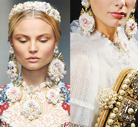 roupas de luxo Dolce Gabbana com estampa barroca
