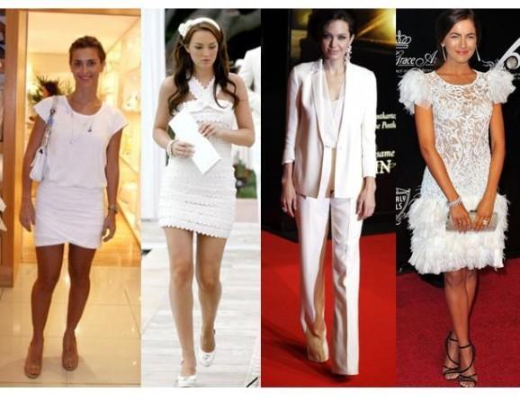 paletós de alfaiataria e vestidos de corte moderno ficam muito bem na moda do branco total