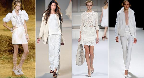 look da moda do branco total combinado com calçado com estampa metalizada, animal print ou geométrica