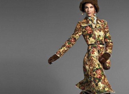 vestido de festa com estampa barroca fashion dolce gabbana baroque