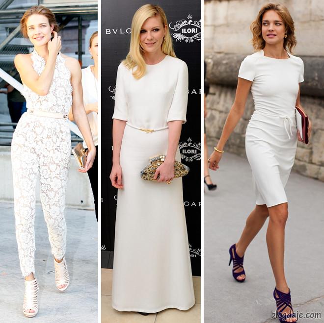 moda do branco total com acessórios coloridos