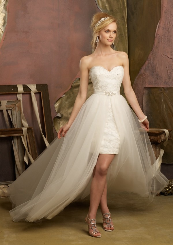 "vestidos de noiva mullets ""falso curto"""