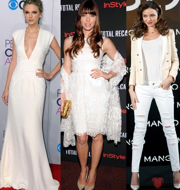 tendência da moda do branco total usando calçados nude