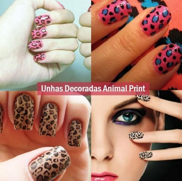 unhas decoradas 2014 2015 animal print