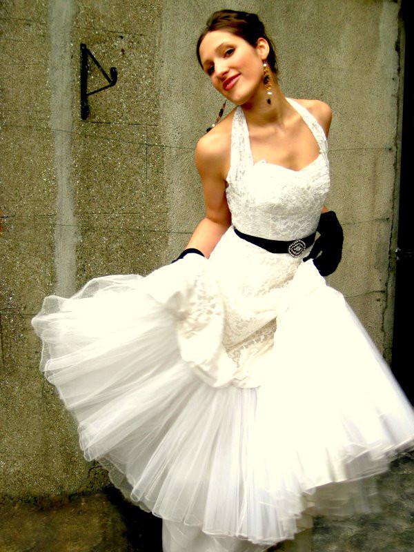 vintage gelinlik com vestido de noiva curto