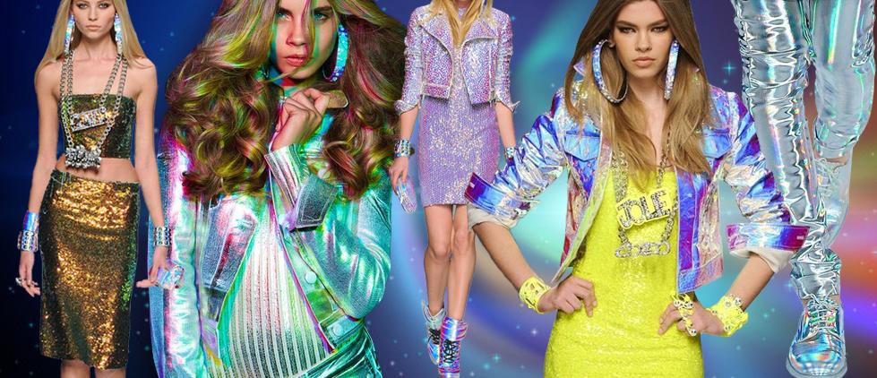 fotos de roupas holográficas