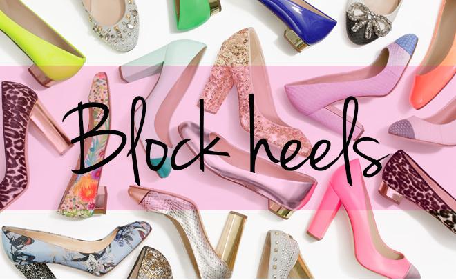 salto bloco - block heels
