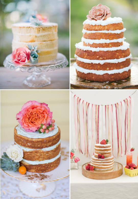 fotos de Naked cake para casamentos