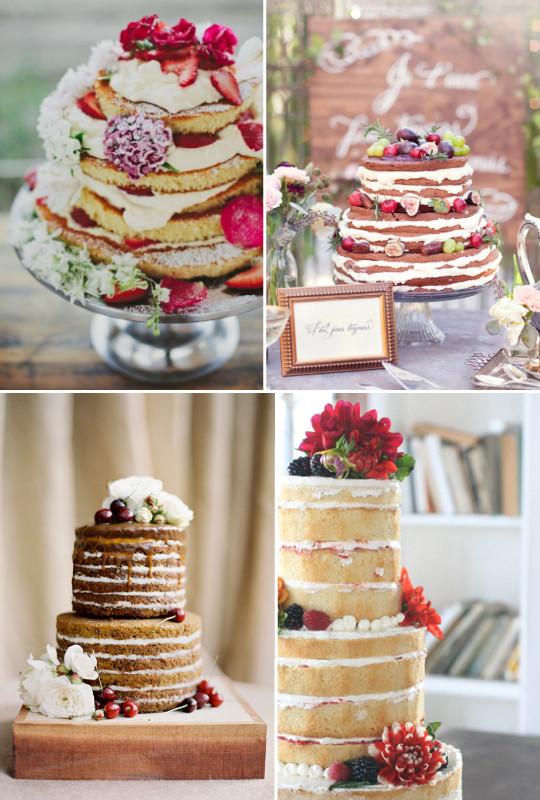 lindas fotos de Naked cake