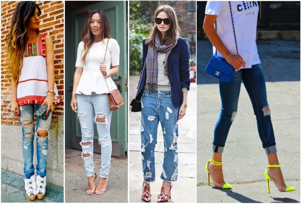 Tendência Destroyed Jeans