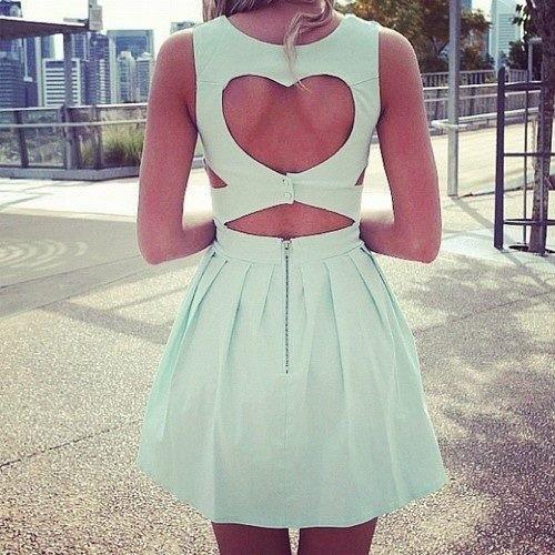 moda do recorte de coração