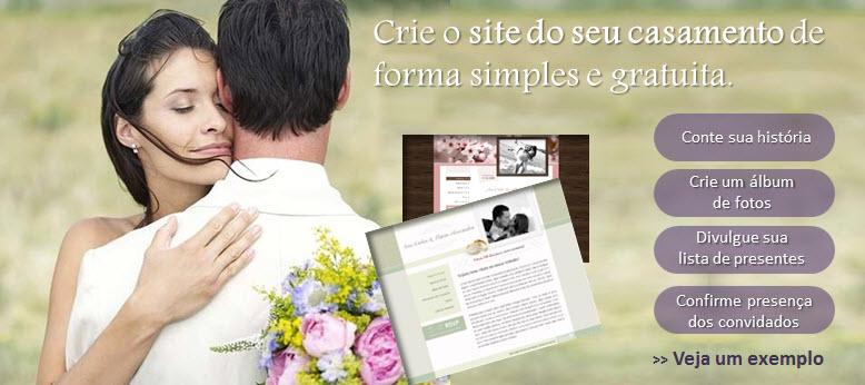 site dos noivos para festa de casamento