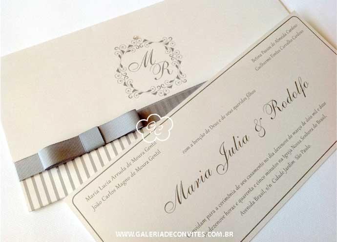 o convite clássico é tendência para casamento em 2014