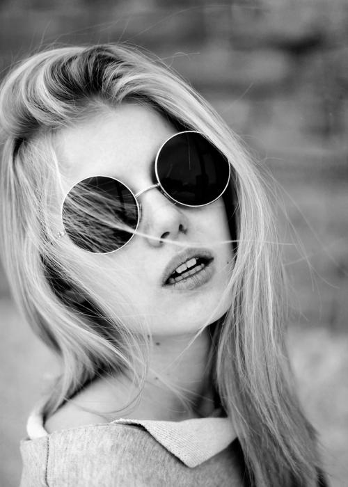 óculos redondo para o verão