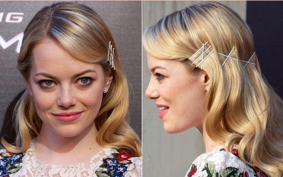 penteado para formatura Emma Stone