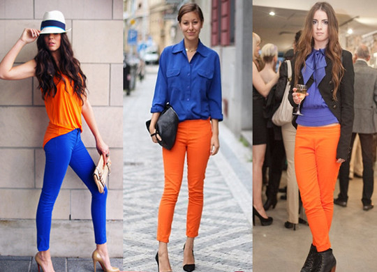 a moda da cor laranja
