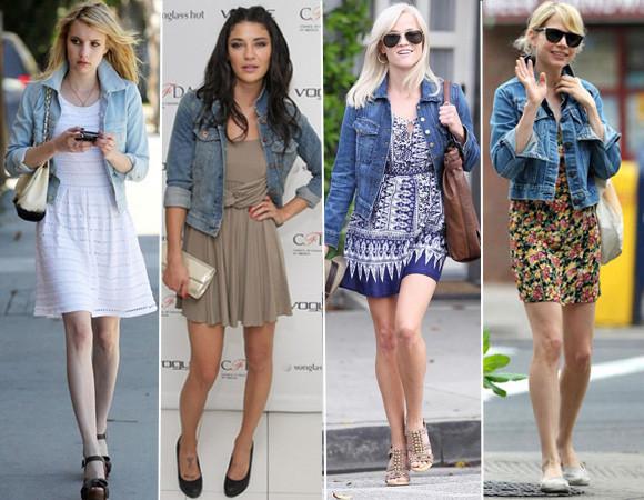 famosas usando camisa jeans