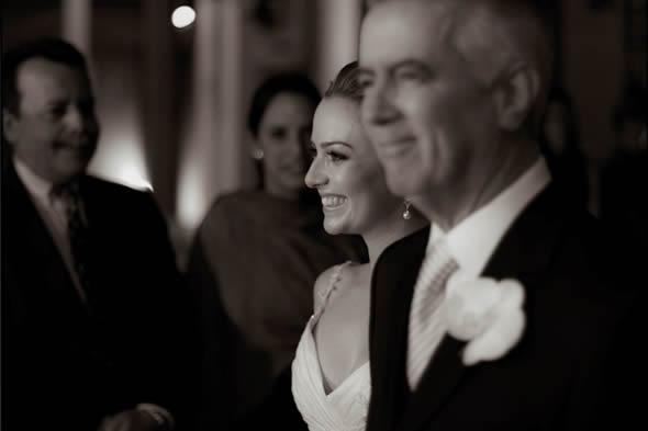 foto da noiva com o pai para o álbum de casamento