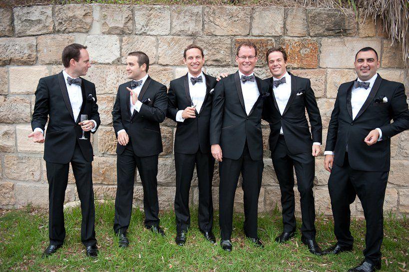 foto do noivo com os padrinhos para o álbum de casamento