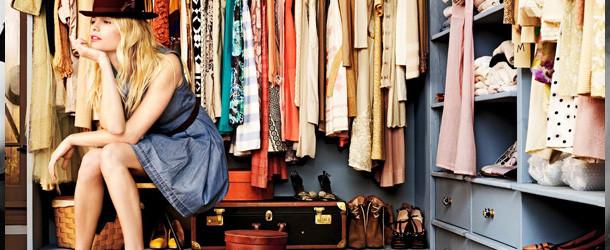 Guarda roupa organizado para o verão