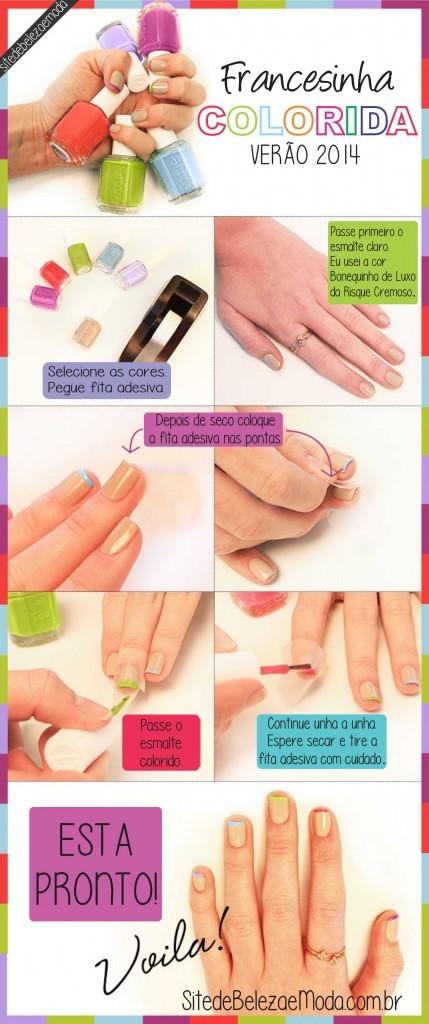 nail art francesinha