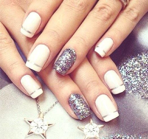 decoração de unhas com glitter