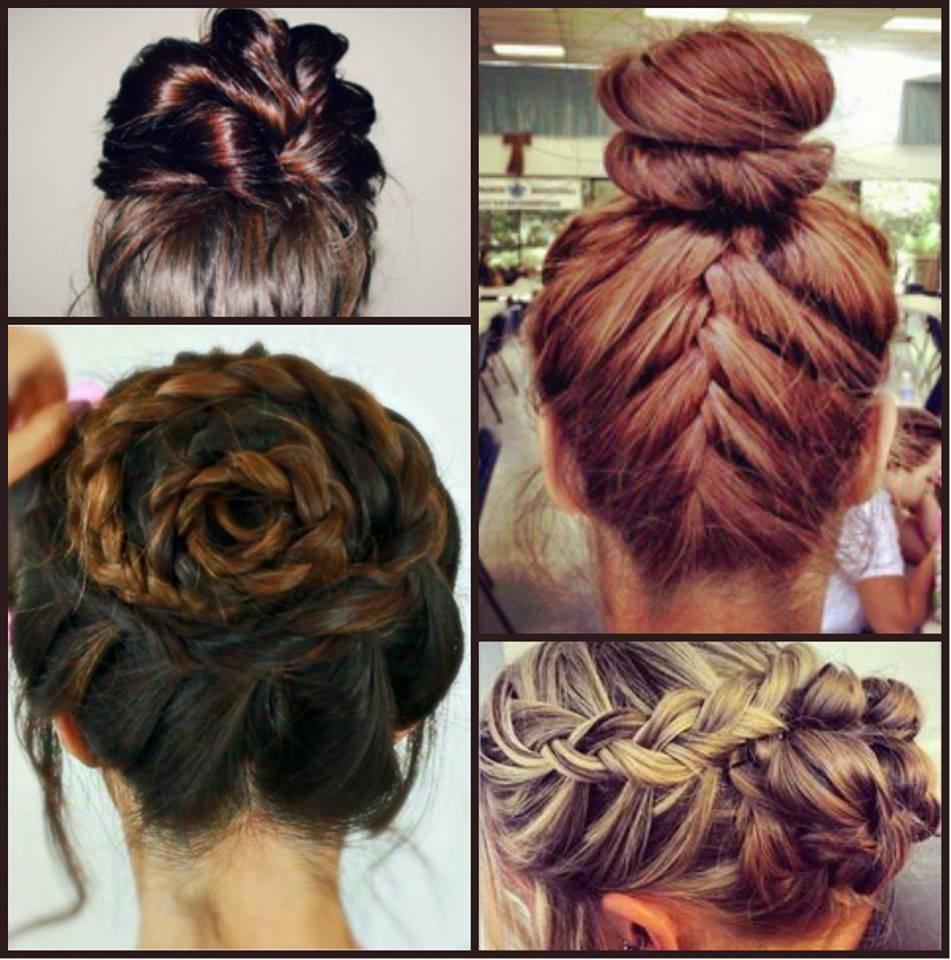 penteado coque com trança