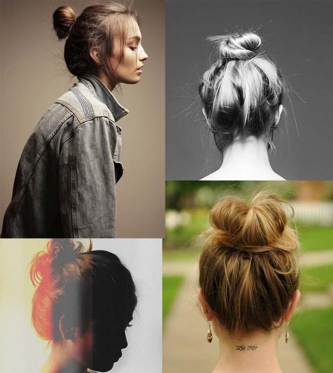 opções para penteado coque