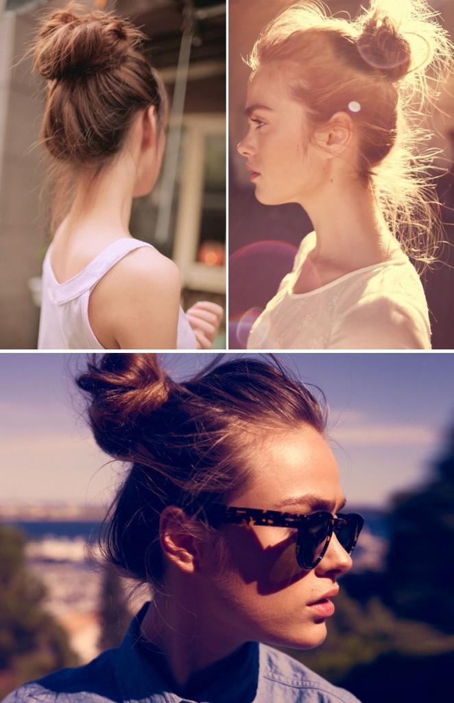 penteado coque para o verão