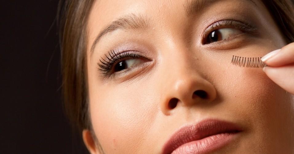 Cílios postiços para olhos orientais