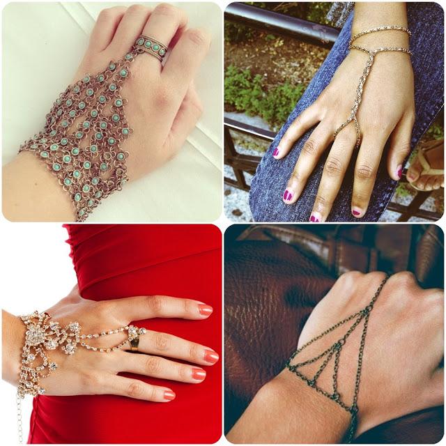 escolha um modelo de bracelete de mão