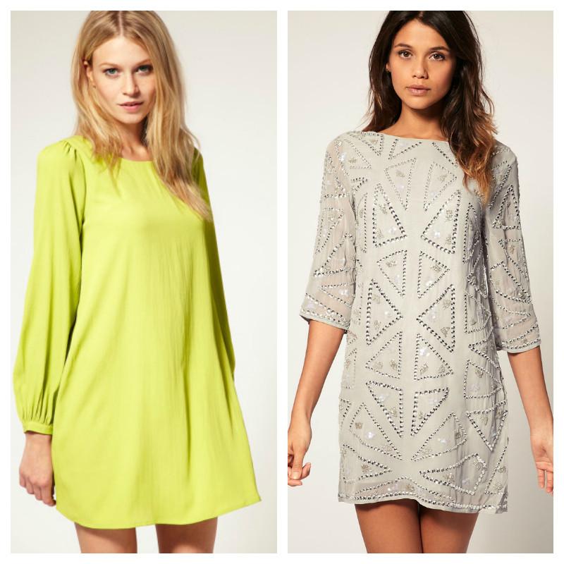 Shift Dress colorido ou monocromático