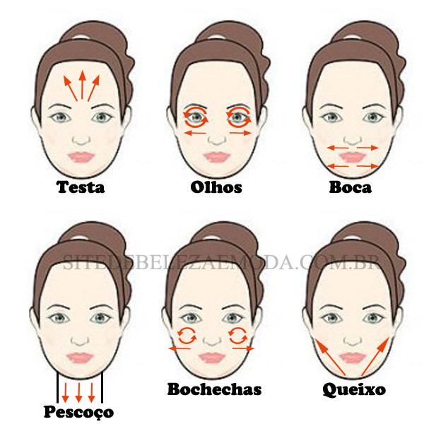 aplicando creme facial corretamente