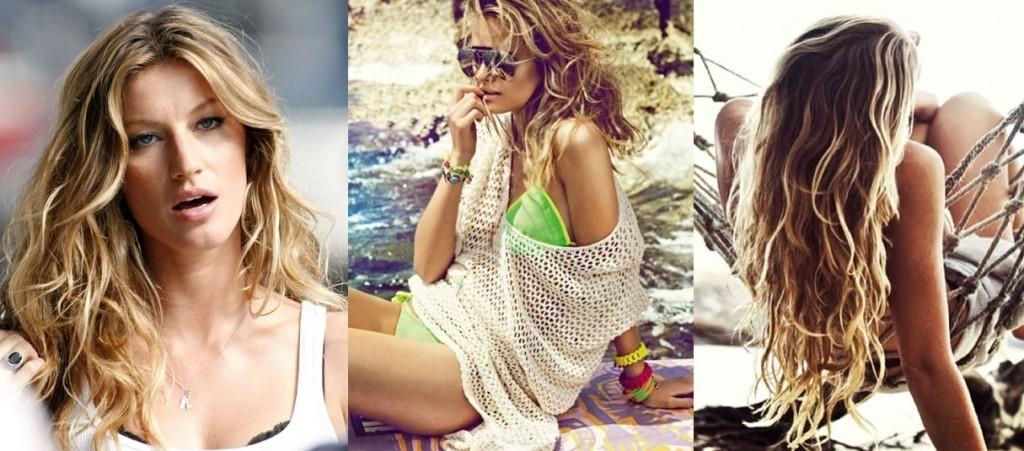 celebridades com Cabelo com efeito pós praia