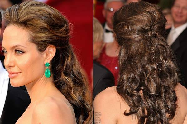Angelina Jolie na lista dos melhores penteados das famosas