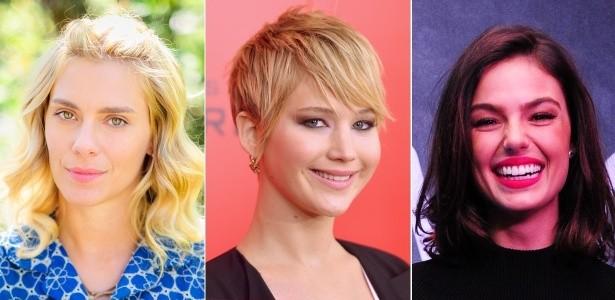 Carolina Dieckmann Jennifer Lawrence e Isis Valverde usando os cortes de cabelo verão 2014