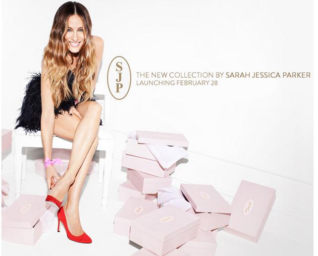 coleção de sapatos Sarah Jessica Parker