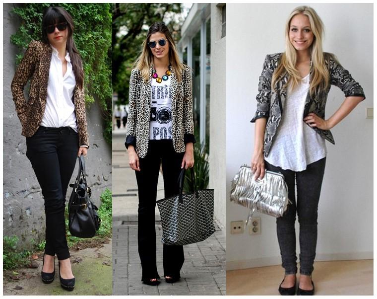 como usar blazer feminino com alça social