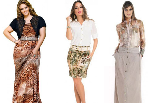 roupa da moda gospel estampada com animal print