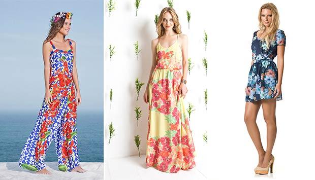 Vestidos para o verão 2014 com Estampas tropicais