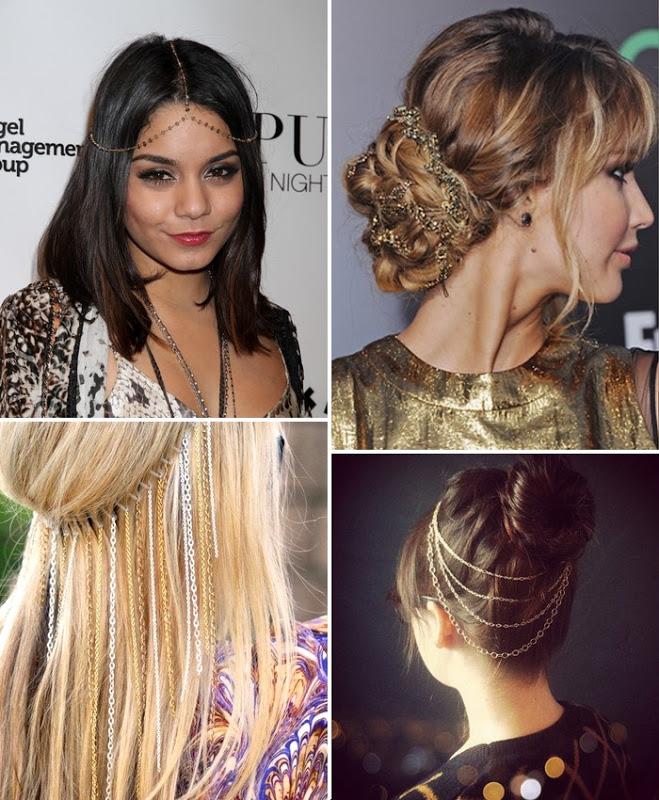 celebridades usando acessórios nos cabelos